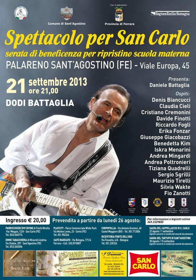 Locandina Concerto Dodi Battaglia