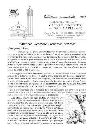 Bollettino Parrocchiale 2019/2
